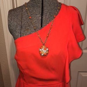 19 Cooper Orange Single Shoulder Dress Size M